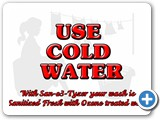 Sanitized Water allows you to wash in cold water with confidence that your clothes are germ free